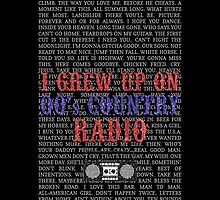 I Grew Up On 00's Country Radio (black phone case) by For The Country Record