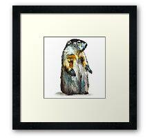 Winter Woodchuck Framed Print
