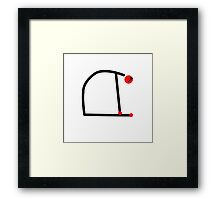 Stick figure of camel yoga pose. Framed Print