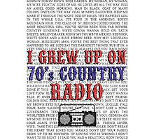 I Grew Up On 70's Country Radio (white phone case) by For The Country Record