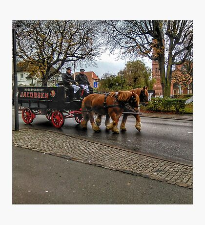 Dray Horses beer delivery Photographic Print