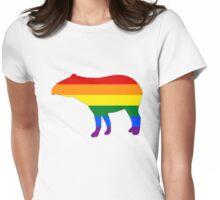 Rainbow Tapir Womens Fitted T-Shirt