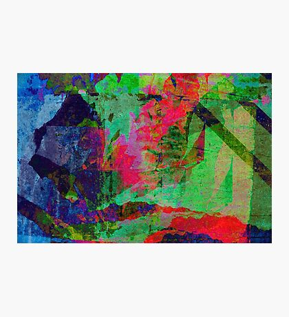 Colored Grunge Wall Photographic Print