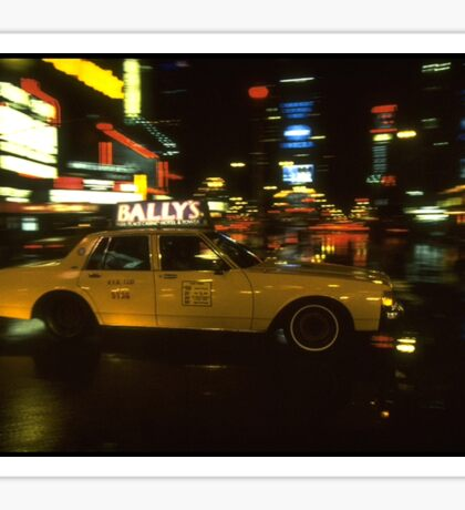 New York city yellow taxi cab Sticker