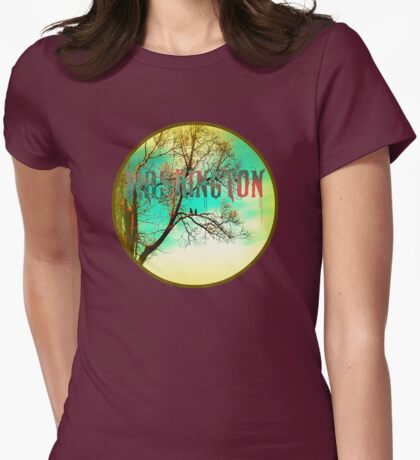 Washington: Crows on a Tree Branch Womens Fitted T-Shirt