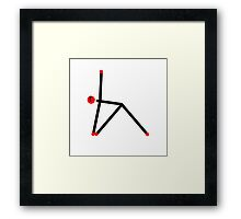 Stick figure of triangle yoga pose. Framed Print