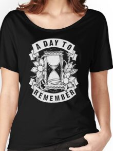 A Day to Remember Hourglass Funny Black Men's Tshirt Women's Relaxed Fit T-Shirt