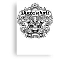 Cool skateboard print with skeleton Canvas Print