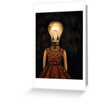 Light Headed Greeting Card