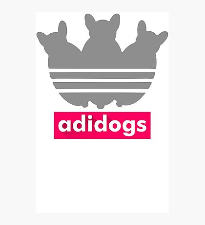 Adidogs Adidas Parody Funny Black Men's Tshirt Photographic Print