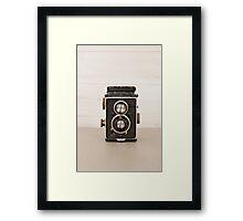 Vintage Rolleiflex Twin Lens camera Framed Print