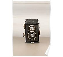 Vintage Rolleiflex Twin Lens camera Poster