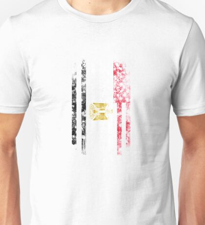 Egypt and America Flag Combo Distressed Design Unisex T-Shirt
