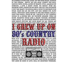 I Grew Up On 80s Country Radio (white phone case) by For The Country Record