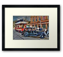 Paisley District Tram and Wolseley 18 Police Car Framed Print
