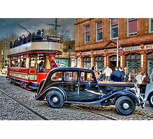 Paisley District Tram and Wolseley 18 Police Car Photographic Print