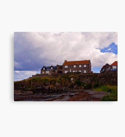 Craster Harbour Canvas Print