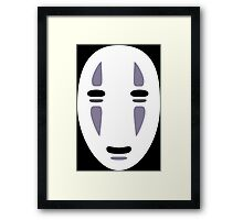 It's Me, No Face. Framed Print