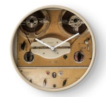 Vintage tape sound recorder reel to reel  Clock