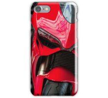 white motorcycle close up photo iPhone Case/Skin