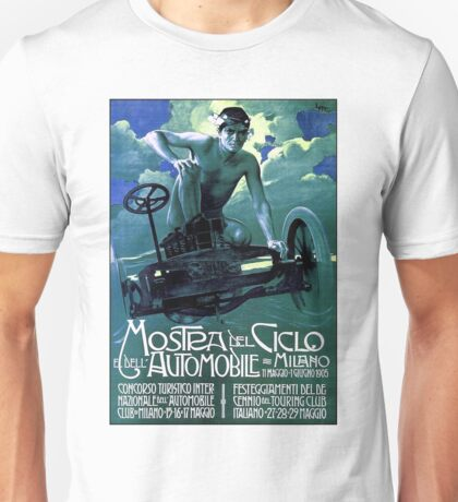 MOSTRA DEL CICLO; Vintage Auto Racing Print Unisex T-Shirt