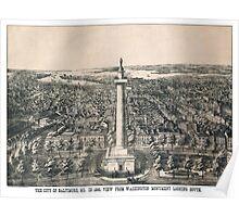 Baltimore - Maryland - 1880 Poster