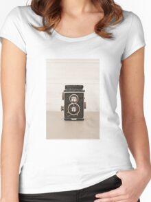 Vintage Rolleiflex Twin Lens camera Women's Fitted Scoop T-Shirt