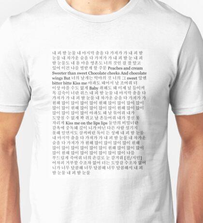 BTS Blood Sweat & Tears Lyrics Unisex T-Shirt