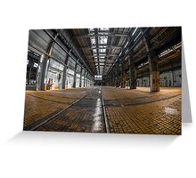 Large industrial interior in a cool style Greeting Card