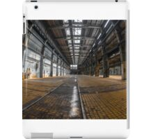 Large industrial interior in a cool style iPad Case/Skin