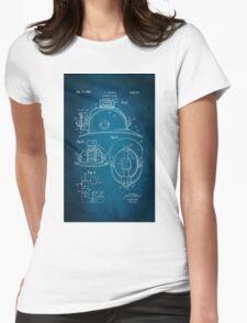 Firefighter Helmet Patent 1965 Womens Fitted T-Shirt