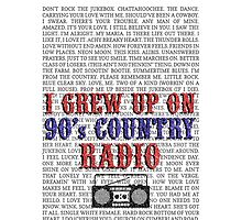 I Grew Up On 90s Country Radio (white phone case) by For The Country Record