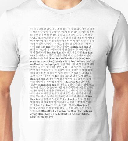 BTS Run Lyrics Unisex T-Shirt