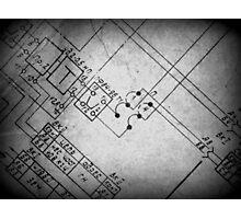 Blueprint Photographic Print