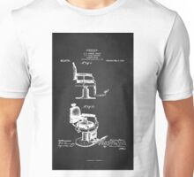 BARBER'S CHAIR PATENT 1910 Unisex T-Shirt