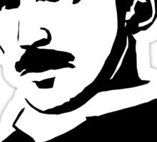 Nikola Tesla Stencil Sticker