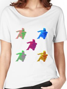 Statue Dabbing Multicolor Women's Relaxed Fit T-Shirt