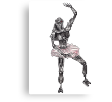Cute Cylon Ballerina Canvas Print