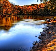 Fox River Early Fall Colors by Roger Passman