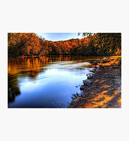 Fox River Early Fall Colors Photographic Print