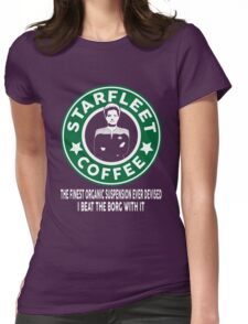 There's Janeway's Coffee in That Nebula! Womens Fitted T-Shirt
