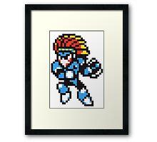 tomahawk man Framed Print