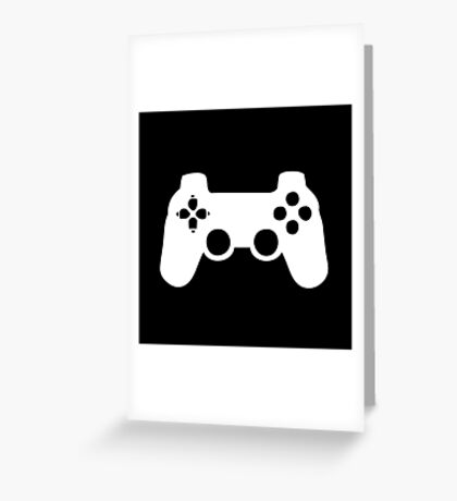 joystick white VIDEO GAMES - Bodbeli Greeting Card