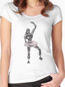 Cute Cylon Ballerina Women's Fitted Scoop T-Shirt