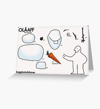 Build a snowman Greeting Card