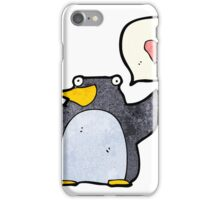 funny cartoon penguin iPhone Case/Skin