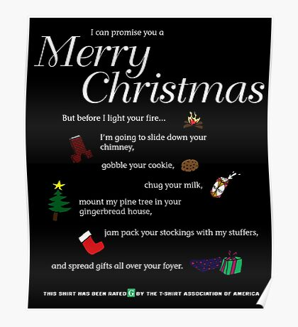 promise a merry christmas Poster