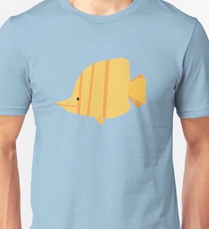Stripy Yellow Fish Unisex T-Shirt