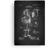 Firefighter Uniform Patent 1905 Canvas Print