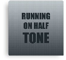 Running on Half Tone Canvas Print